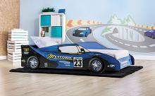 CM7643BL Hokku designs dustrack meteoric racing car style design twin size kids bed blue