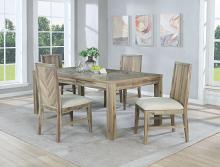VH-5200-5PC 5 pc Gracie oaks Dana point natural finish wood chevron design dining table with leaf set