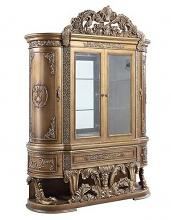 Acme DN00480 Astoria grand constantine antique gold finish wood french inspired baroque ornate curio hutch and buffet cabinet