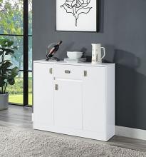 Acme LV00742 George oliver pagan mid century retro modern white finish wood server cabinet