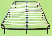 Twin stand alone euro base bed base with steel frame and bent wood slat construction