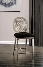 FOA3743PC Set of 2 Towson abner modern style silver metal counter height chairs