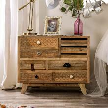 FOA51009 Bungalow rose lynchburg Amani Blanchefleur weathered rustic natural tone finish wood chest with drawers