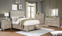 FOA7925 5 pc Rosdorf park lillian natural beige tone finish wood paneled design queen bedroom set
