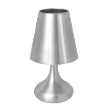 Genie Contemporary Desk Touch Lamp in Silver