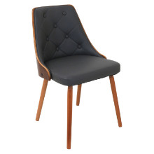 Lumisource CH-JY-GNN-WL-GY Gianna Mid-century Modern Chair in Walnut and Grey