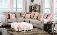 SM5167 2 pc Hokku designs Harriden grey chenille fabric sectional sofa