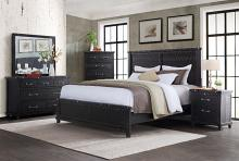 Vilo Home VH-9810-4PC 4pc Carona grey industrial charm dark charcoal finish wood queen bedroom set
