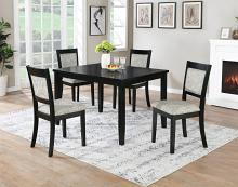 VH-155-5PC 5 pc Gracie oaks jazzy bells black finish wood dining table set