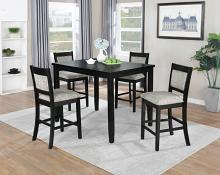 VH-255-5PC 5 pc Gracie oaks jazzy bells black finish wood counter height dining table set