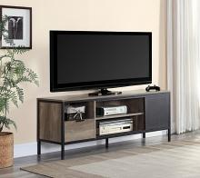 Acme LV00404 George oliver nantan mid century retro modern driftwood two tone gray finish wood tv stand