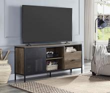 Acme LV00405 George oliver nantan mid century retro modern driftwood two tone gray brown finish wood tv stand