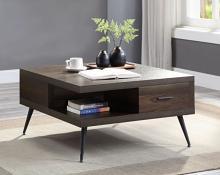 Acme LV00441 Latitude run harel brown finish wood mid century modern square coffee table