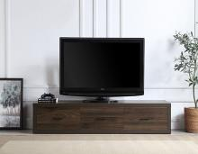 Acme LV00444 George oliver harel contemporary walnut finish wood low rise tv stand