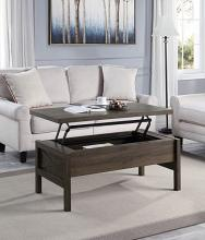 Acme LV00446 Latitude run harel brown finish wood mid century modern lift top coffee table