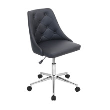 Marche Height Adjustable Modern Office Chair with Swivel in Black