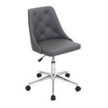 Marche Height Adjustable Modern Office Chair with Swivel in Grey