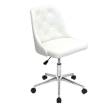 Marche Height Adjustable Modern Office Chair with Swivel in White