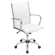 Master Height Adjustable Office Chair with Swivel in White