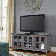 VH-9206  August grove geers athena antique grey finish wood entertainment center TV stand