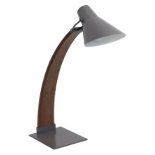 Noah Mid-century Modern Table Lamp in Walnut and Grey
