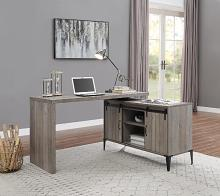 Acme OF00005 Zakwani gray oak finish wood swivel writing office desk with storage