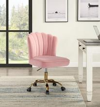 Acme OF00116 Everly quinn kewdale moyle rose quartz fabric office chair