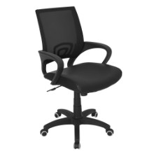 Modern Officer Height Adjustable Modern Office Chair with Swivel in Black