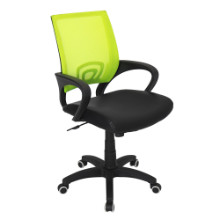 Modern Officer Height Adjustable Modern Office Chair with Swivel in Lime Green