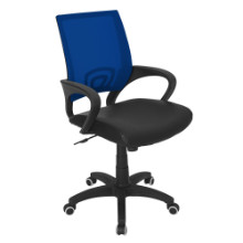 Modern Officer Height Adjustable Modern Office Chair with Swivel in Blue