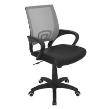 Modern Officer Height Adjustable Modern Office Chair with Swivel in Silver