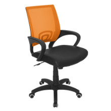 Modern Officer Height Adjustable Modern Office Chair with Swivel in Tangerine