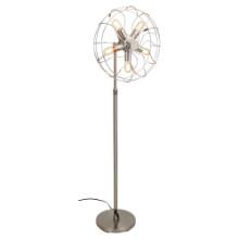 Ozzy Vintage industrial Floor Lamp in Satin Nickel