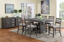 VH-3800-7PC 7 pc Gracie oaks palermo grey wire brush finish wood counter height dining table set
