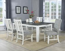 VH-8000-7PCA 7 pc Gracie oaks saratoga two tone light gray and antique white finish wood dining table set