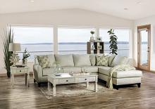 SM1116 2 pc Rosdorf park bridie ivory textured fabric sectional sofa with chaise