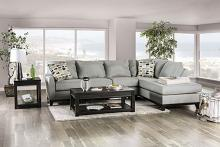 SM1117 2 pc Rosdorf park bridie gray textured fabric sectional sofa with chaise