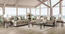 SM1229 2 pc Rosdorf park myra taupe plush microfiber fabric sofa and love seat set