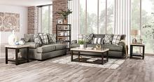 SM1297 2 pc Canora grey debora granite small weave fabric sofa and love seat set