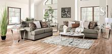 SM1298 2 pc Canora grey debora gray small weave fabric sofa and love seat set