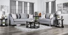 SM2670 2 pc Canora grey lovelle nefyn grey burlap weave fabric sofa and love seat set