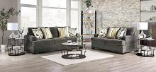 SM3080 2 pc Rosdorf park taliyah gray chenille fabric sofa and love seat set