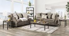 SM3082 2 pc Rosdorf park myra laila gray chenille fabric sofa and love seat set