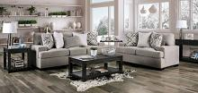 SM3084 2 pc Rosdorf park myra polly light gray plush microfiber fabric sofa and love seat set