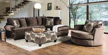 SM5143BR 2 pc Bonaventura brown plush microfiber sectional sofa