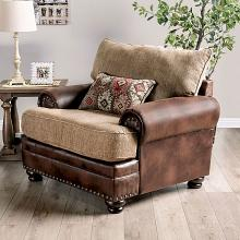 SM5148-CH Red barrel studio rumi reyna brown leatherette and chenille accent chair