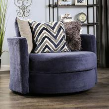 SM5151CH  Hokku designs Griswold navy textured microfiber fabric swivel chair