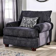 SM5157-CH Canora grey hadleigh navy blue fabric accent chair