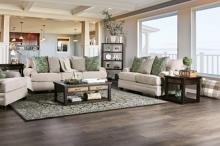 SM5158 2 pc Canora grey hadleigh cream chenille fabric sofa and love seat set