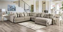 SM5182 3 pc Rosdorf park angelia light gray chenille fabric sectional sofa with chaise